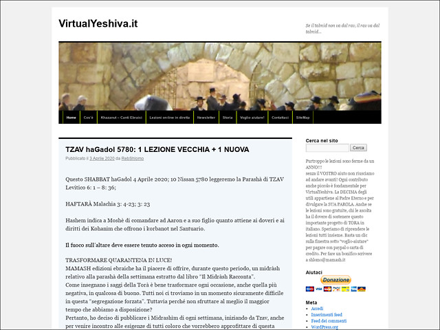 Anteprima www.virtualyeshiva.it