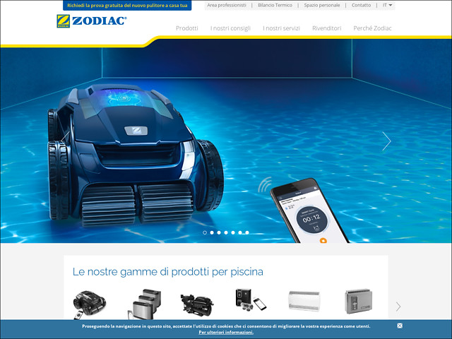 Anteprima www.zodiac-poolcare.it