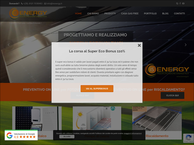 Anteprima www.isenergy.it